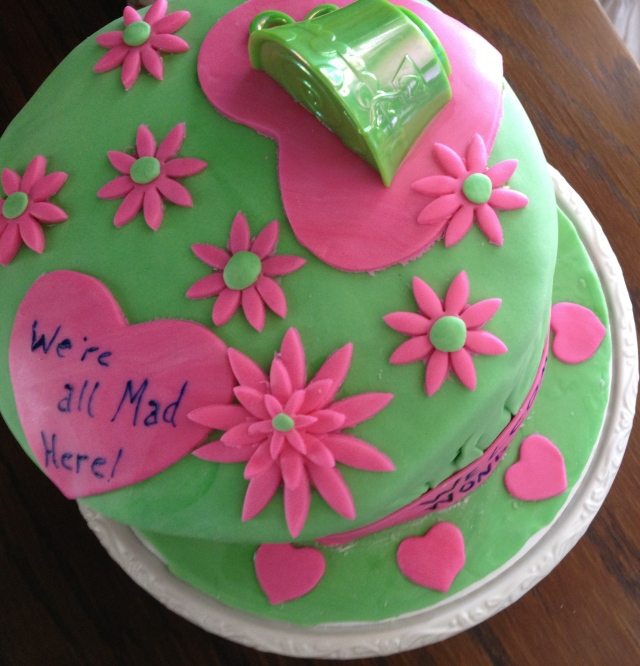 Mad Hatter Cake top